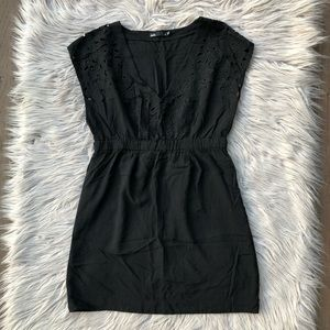 Dotti Embroidered Eyelet Baby Doll Dress